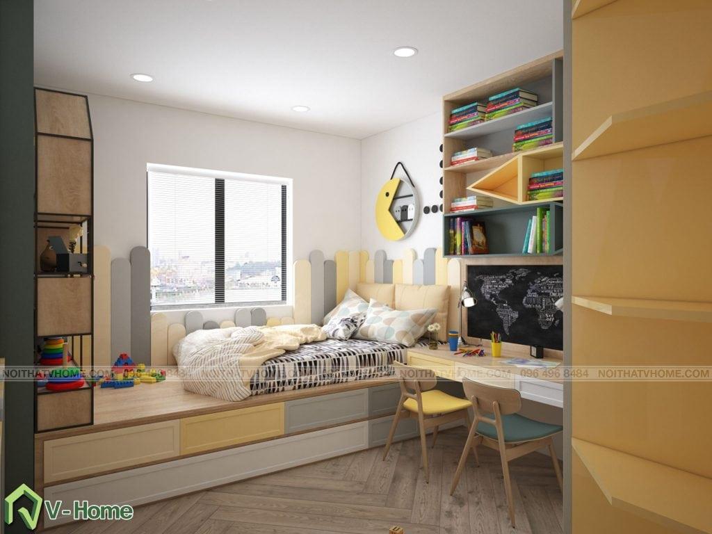 thiet-ke-phong-ngu-chung-cu-n02-yen-hoa-8-1024x768 Thiết kế nội thất chung cư N02 - 259 Yên Hòa phong cách Scandinavian