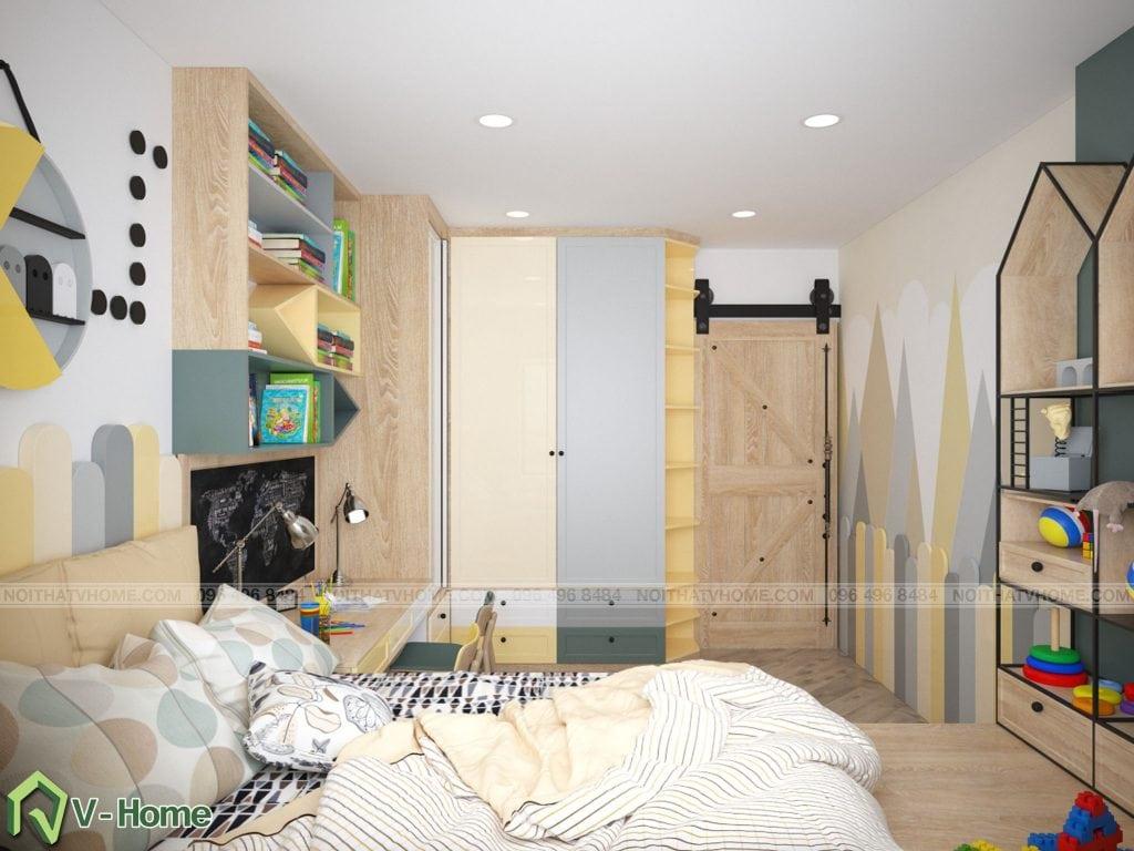 thiet-ke-phong-ngu-chung-cu-n02-yen-hoa-9-1024x768 Thiết kế nội thất chung cư N02 - 259 Yên Hòa phong cách Scandinavian
