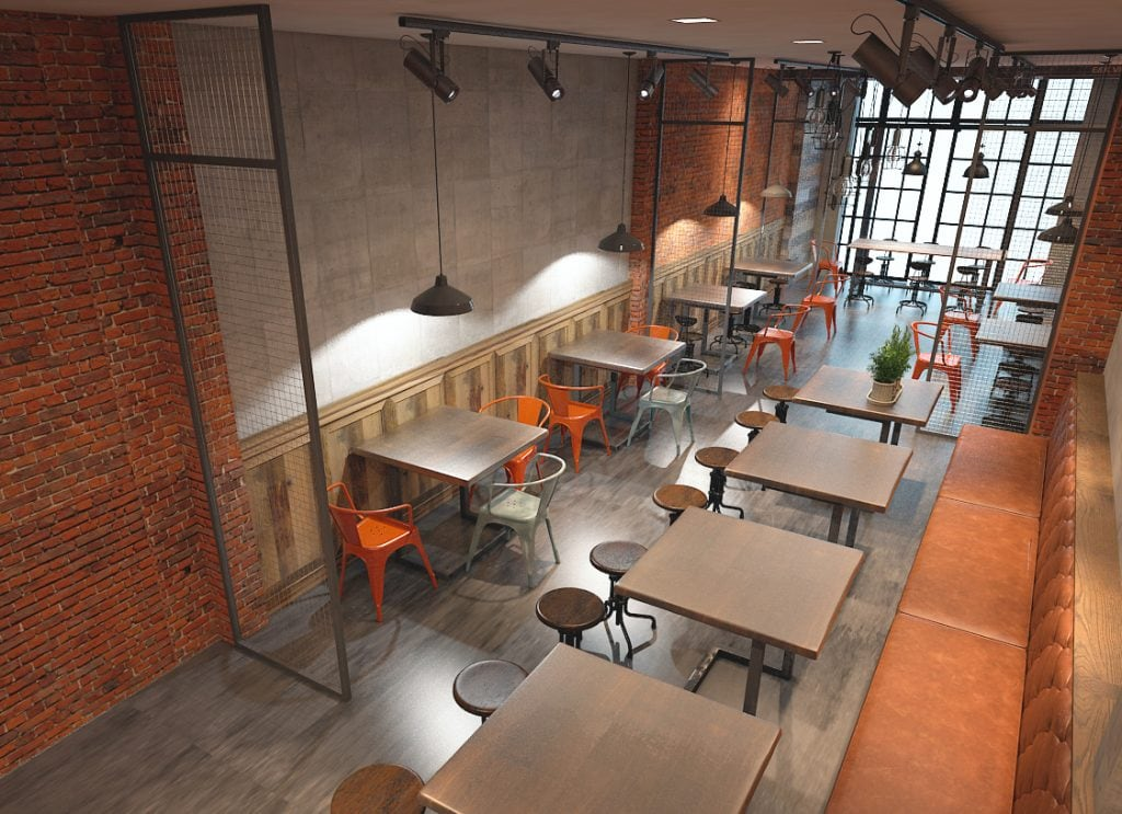 thiet-ke-yoyo-coffe-8-1024x743 [Kiến thức] Thiết kế nội thất Industrial - Phong cách công nghiệp