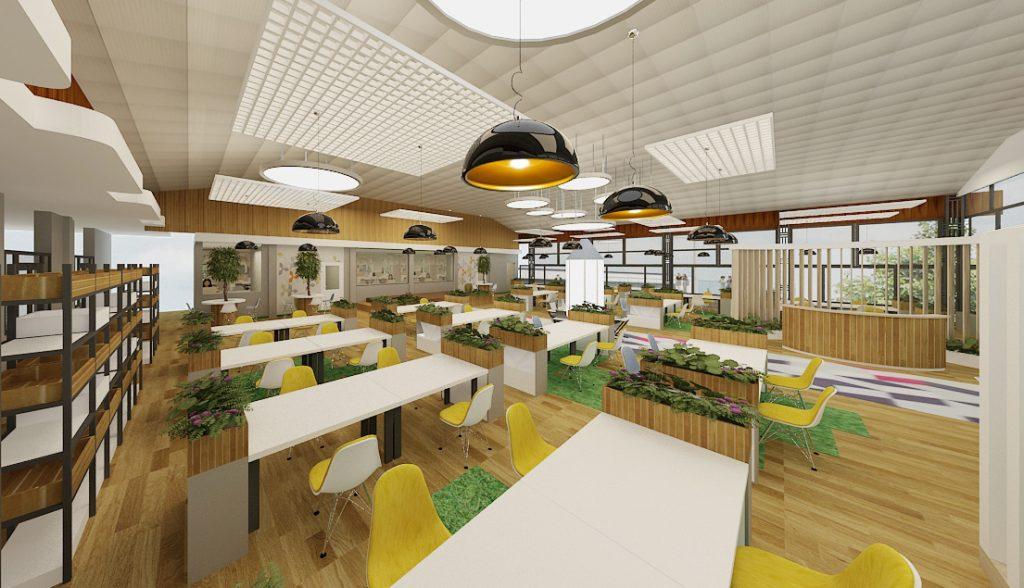 van-phong-thiet-ke-coworking-1024x588 [Kiến thức] Thiết kế nội thất văn phòng chuẩn đẹp