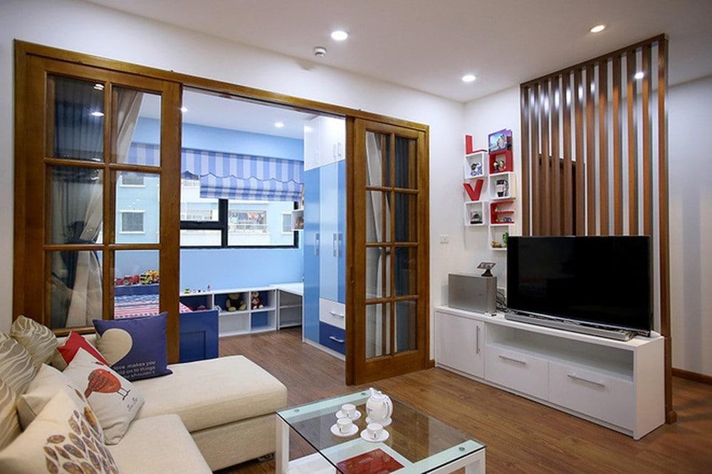 2_104688 Trang trí nhà với vách ngăn phòng khách và phòng ngủ