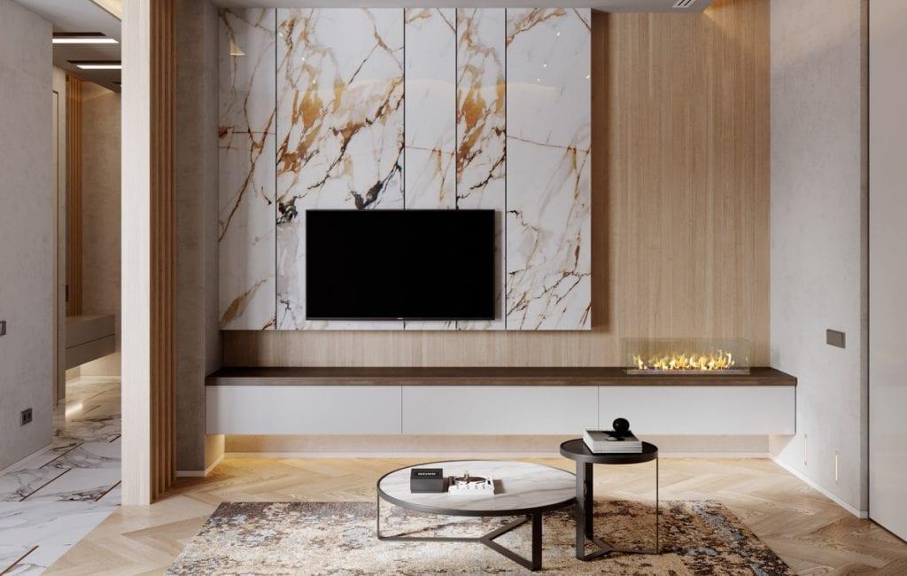 Contemporary-fireplace-1024x650 Kệ tivi đẹp và những ứng dụng trong thiết kế nội thất nhà ở