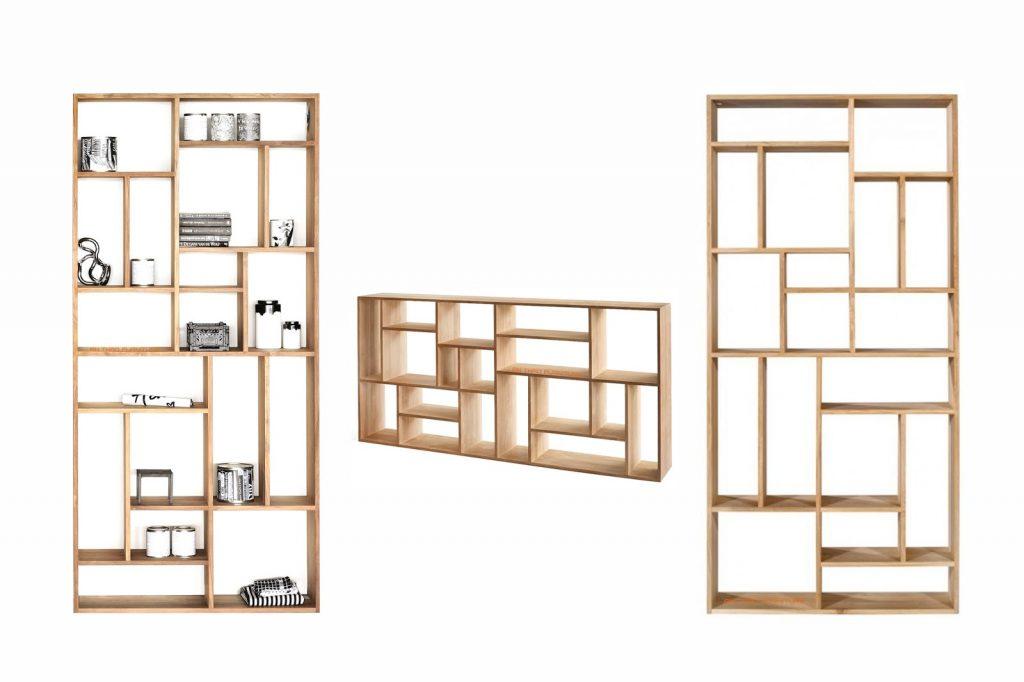 Ke-trang-tri-go-Oak-1024x682 Những cách lựa chọn kệ trang trí phòng khách nhỏ