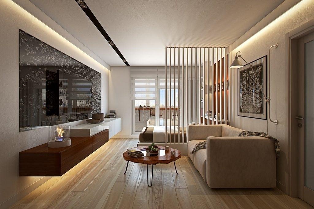 Wedo-thiet-ke-noi-that-don-gian-thong-minh-cho-nha-nho-38-1024x682 Trang trí nhà với vách ngăn phòng khách và phòng ngủ