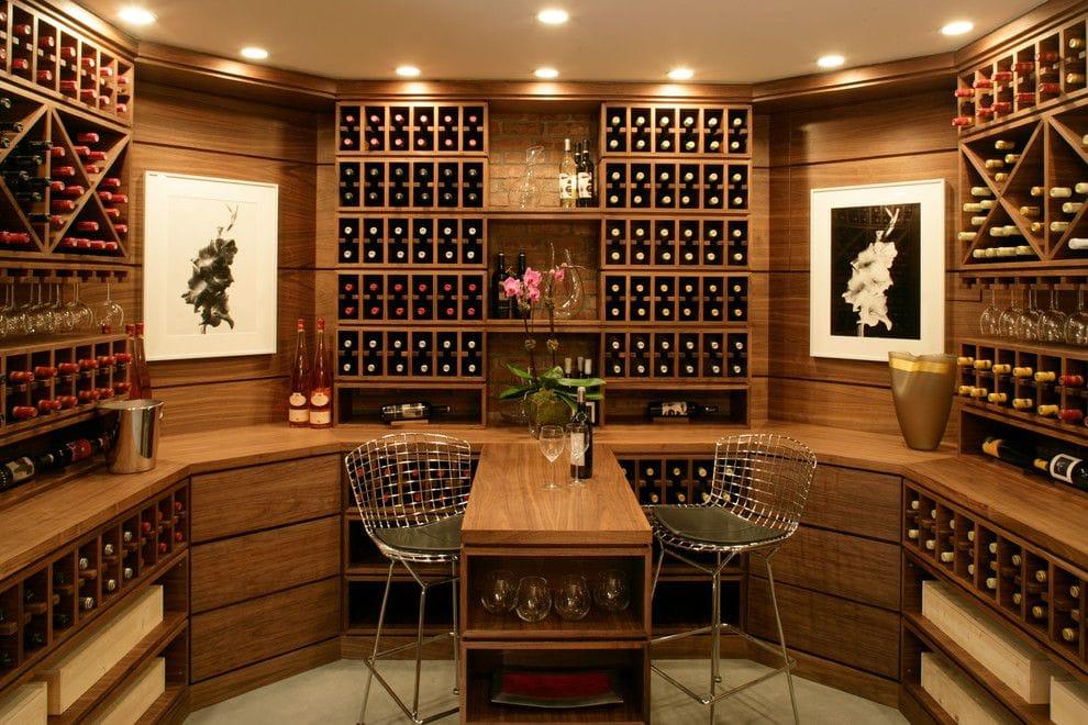 brunello-wine-ideas-for-contemporary-wine-cellar-with-wine-nooks-tasting-room-and-bar-by-diane-burgio-design Tủ rượu và cách bài trí hoàn hảo trong thiết kế nội thất