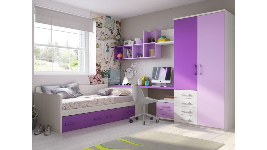 chambre-ado-fille-personnalisable-avec-lit-banquette-f167-glicerio-1024x576 Gợi ý cách thiết kế phòng ngủ cho bé gái 15 tuổi