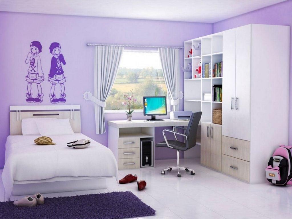 cool-bedroom-ideas-for-teenage-girls-with-new-girl-1024x768 Gợi ý cách thiết kế phòng ngủ cho bé gái 15 tuổi