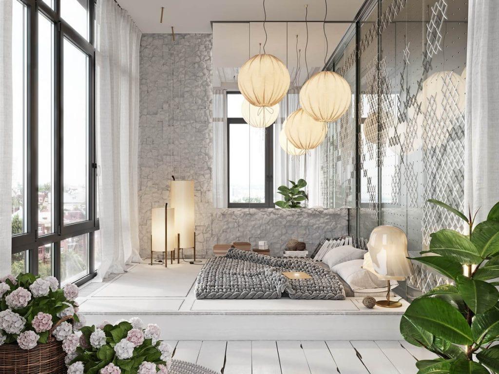 cool-master-bedrooms-1024x768 Trang trí nhà với vách ngăn phòng khách và phòng ngủ