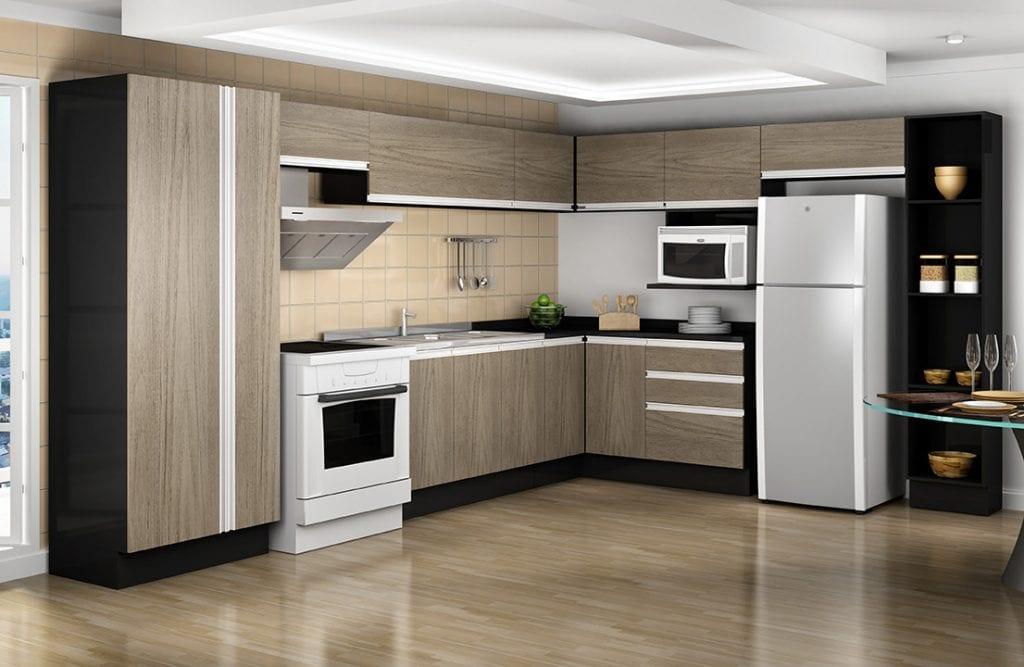 cozinha-modulada-em-l-preta-laminacao-de-madeira-1000-1024x667 Tủ bếp và cách lựa chọn phù hợp