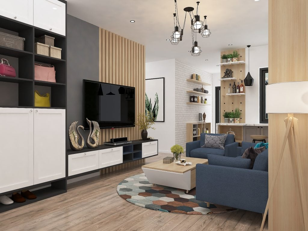 ke-trang-tri-6-1024x768 Những cách lựa chọn kệ trang trí phòng khách nhỏ