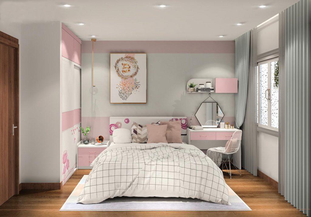 phong-ngu-cho-be-gai-1024x714 Gợi ý cách thiết kế phòng ngủ cho bé gái 15 tuổi