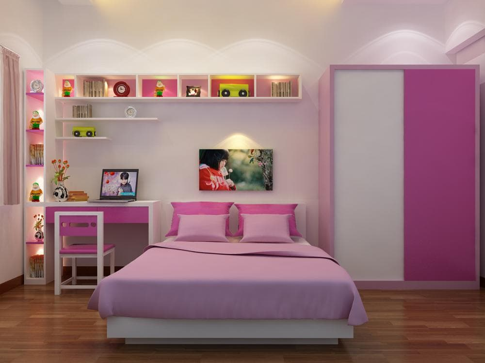phong-ngu-con-gai-21da Giường ngủ - cách lựa chọn thông minh cho căn nhà của bạn
