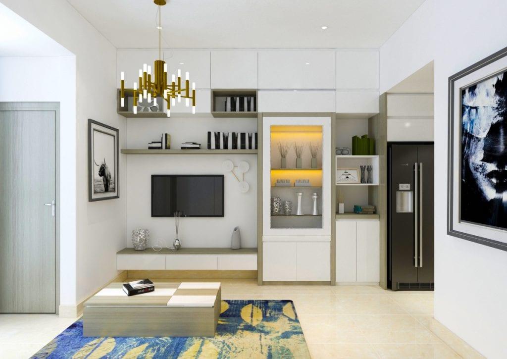 thiet-ke-chung-cu-office-tel-river-gate-2-1024x725 Kệ tivi đẹp và những ứng dụng trong thiết kế nội thất nhà ở