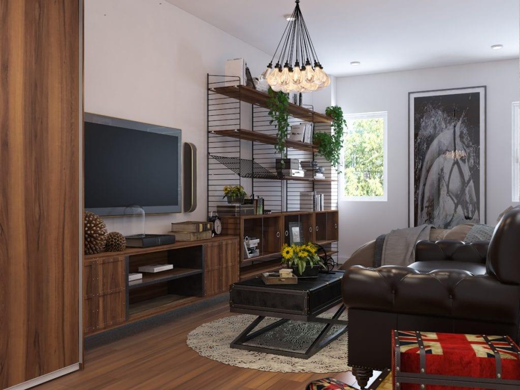 thiet-ke-nha-pho-59-vo-van-tan-15-1024x768 Kệ tivi đẹp và những ứng dụng trong thiết kế nội thất nhà ở