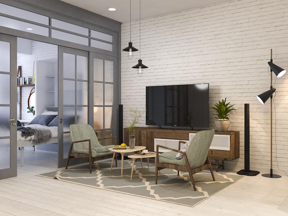 thiet-ke-noi-that-chung-cu-officetel-river-gate-3 Kệ tivi đẹp và những ứng dụng trong thiết kế nội thất nhà ở