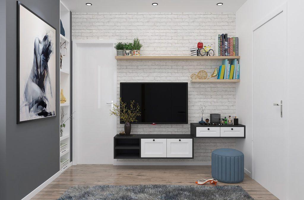 thiet-ke-phong-ngu-chung-cu-him-lam-3-1024x672 Kệ tivi đẹp và những ứng dụng trong thiết kế nội thất nhà ở