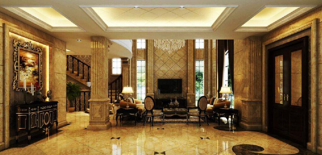 tien-sanh-biet-thu-6-1024x493 Thiết kế mẫu sảnh nhà đẹp cho không gian sống trong mơ