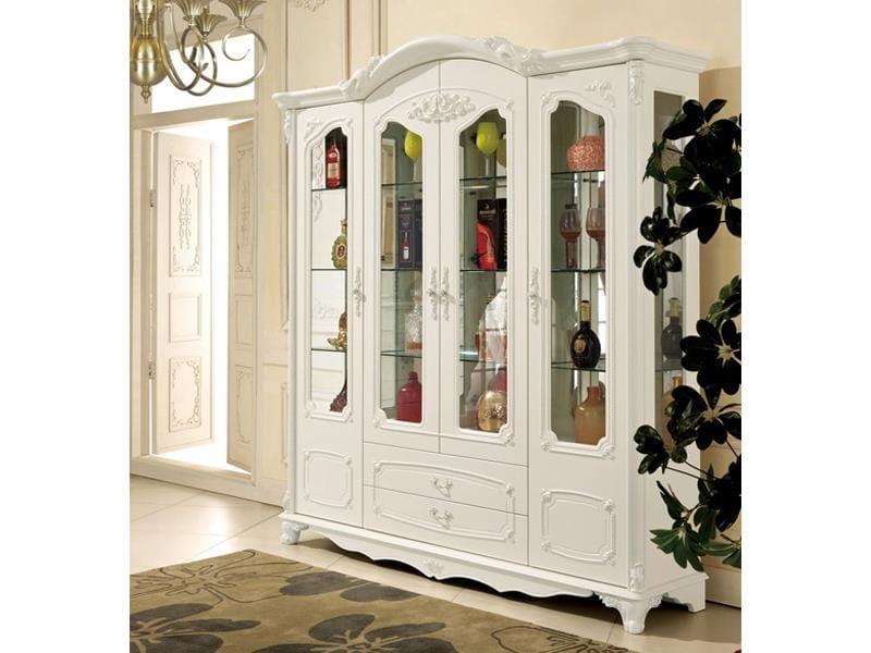 tu-ruou-cao-cap-tan-co-dien-mau-trang-1 Tủ rượu và cách bài trí hoàn hảo trong thiết kế nội thất