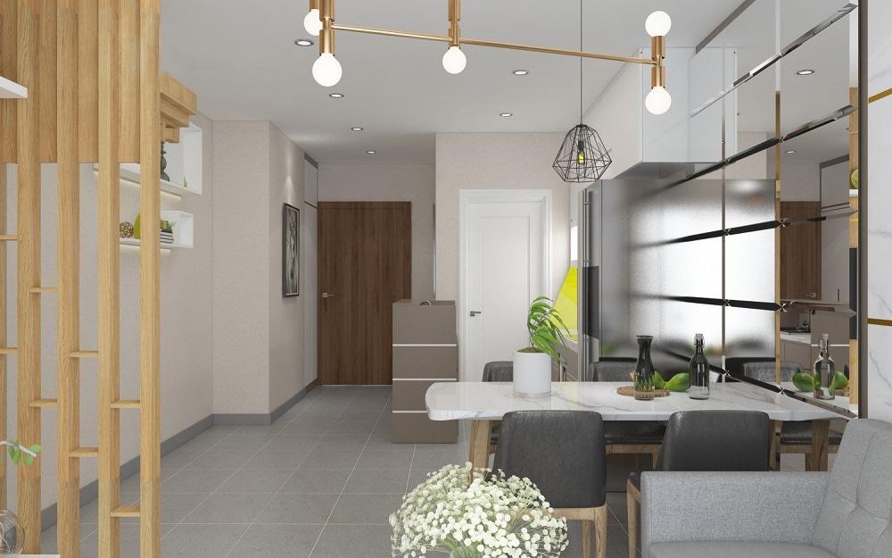 002 Gợi ý thiết kế nội thất chung cư 70m2 đẹp