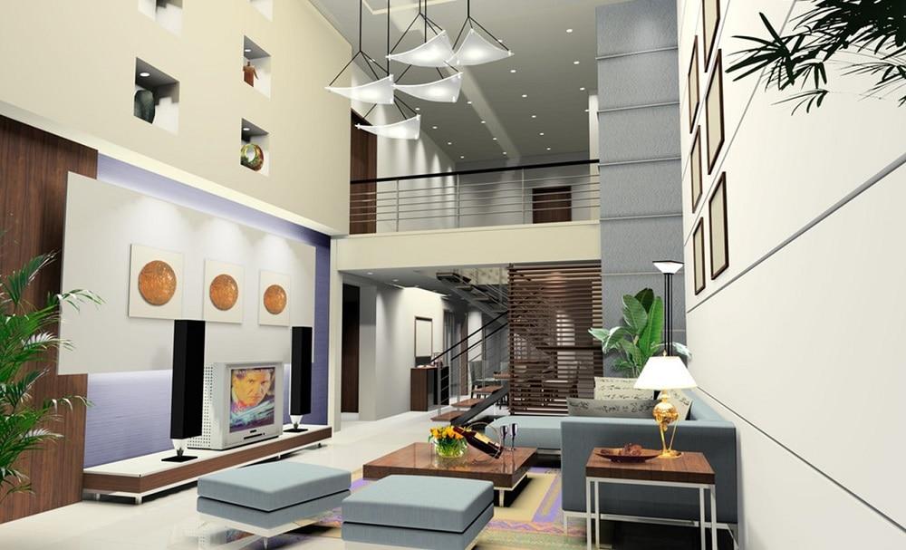 1 Thiết kế mẫu phòng khách đẹp có cầu thang như thế nào?