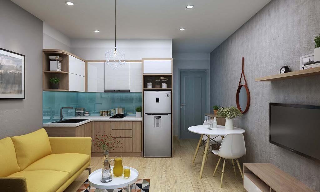 Can_Ho_34m2_Bep_Dep-2-1024x614 Tuyệt chiêu thiết kế nhà nhỏ đẹp đơn giản