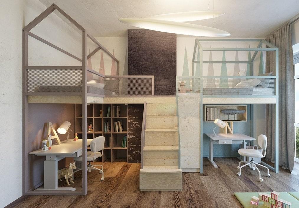 Giường-tầng-trẻ-em-GT08 Giường tầng- nội thất đa năng cho không gian sống hiện đại