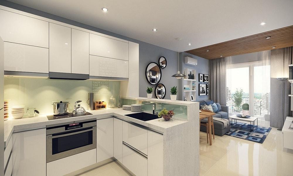 Thiết-kế-tủ-bếp-đẹp-03 Gợi ý thiết kế nội thất chung cư 70m2 đẹp