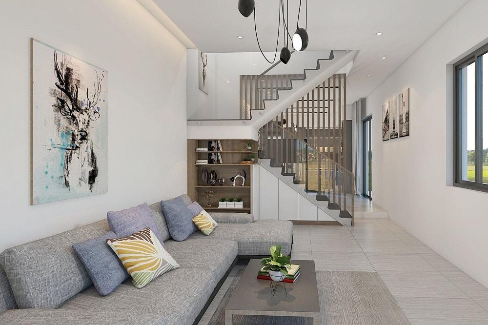 d064345164815112b8b8407529bb9c0e Thiết kế mẫu phòng khách đẹp có cầu thang như thế nào?