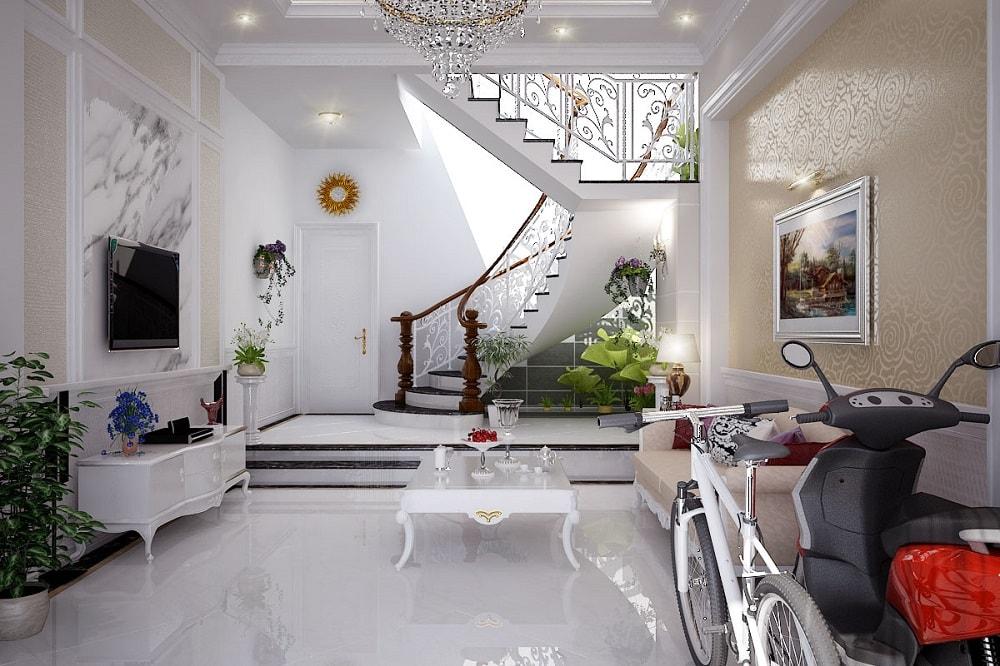 man-nhan-voi-thiet-ke-nha-pho-2-tang-mai-thai-tan-co-dien-6 Thiết kế mẫu phòng khách đẹp có cầu thang như thế nào?