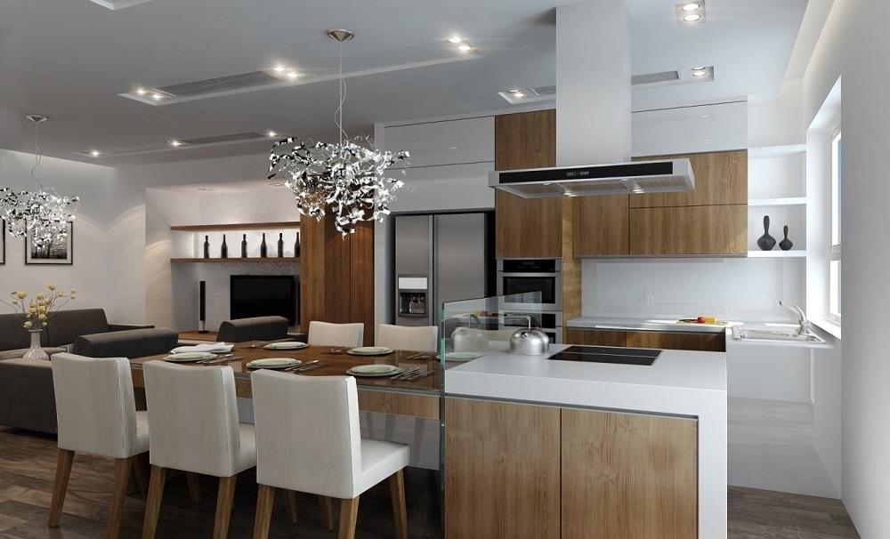 mau-bep-hien-dai_2 Gợi ý thiết kế nội thất chung cư 70m2 đẹp