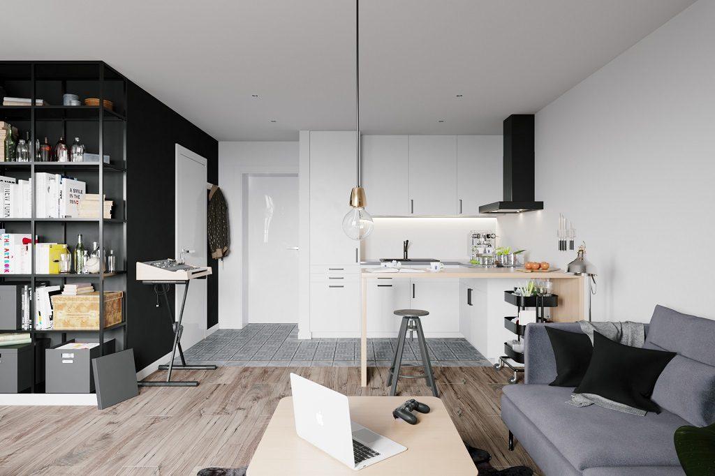 nt-small-apartment-1-1024x682 Tuyệt chiêu thiết kế nhà nhỏ đẹp đơn giản