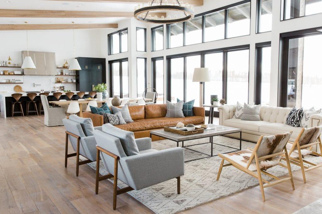 open-concept-living-1024x683 Những lưu ý trong thiết kế phòng khách liền bếp