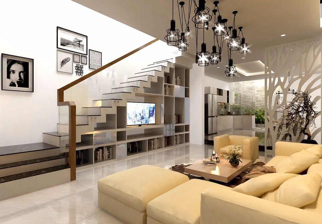 phong-khach-nha-ong-dep-3-1024x712 Ý tưởng thiết kế phòng khách nhà ống đẹp và sang trọng