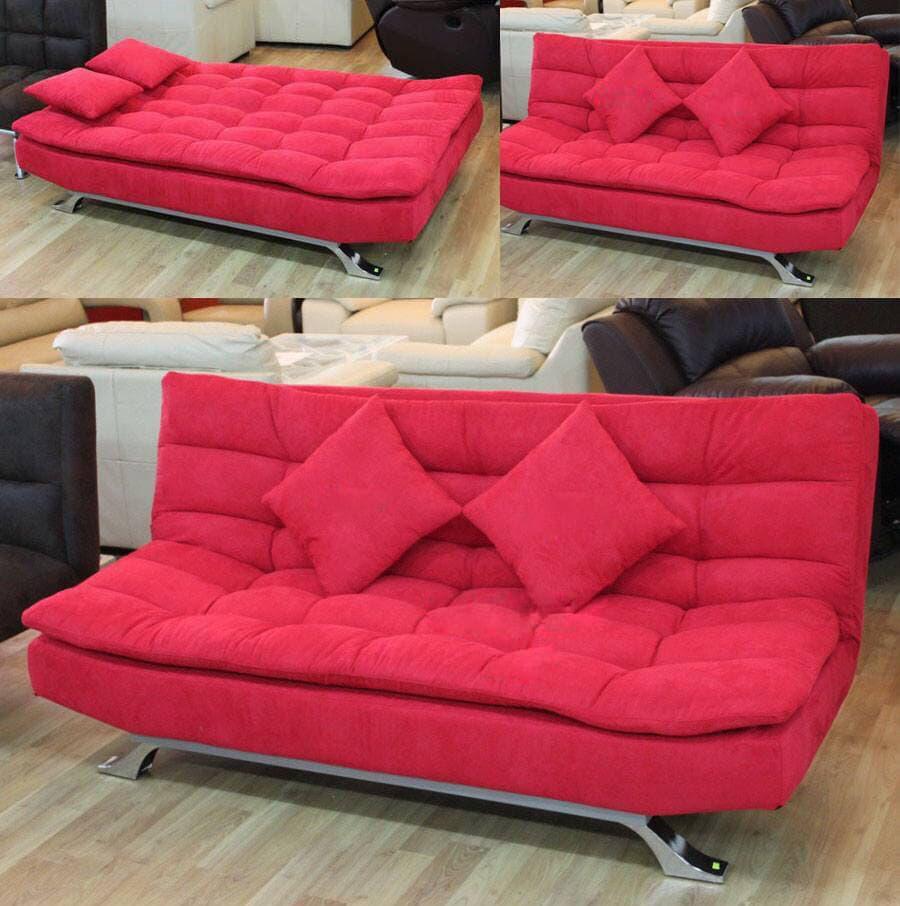 sofa-bed-đỏ Chọn ghế sofa giường tiện dụng cho không gian sống của bạn