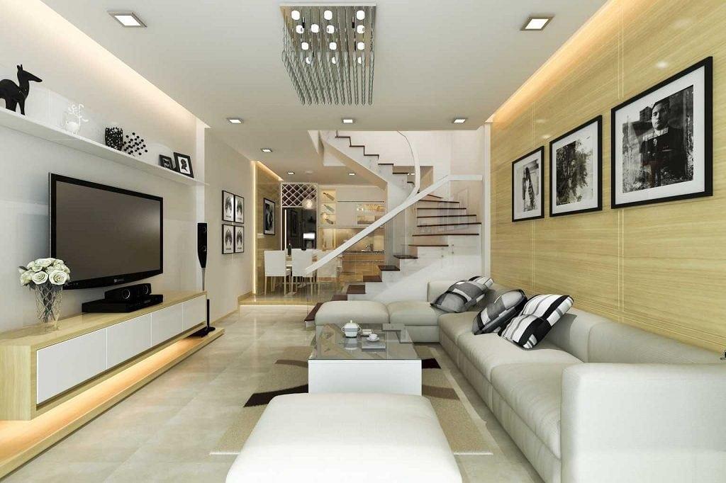 thiet-ke-noi-that-nha-ong-1024x682 Ý tưởng thiết kế phòng khách nhà ống đẹp và sang trọng