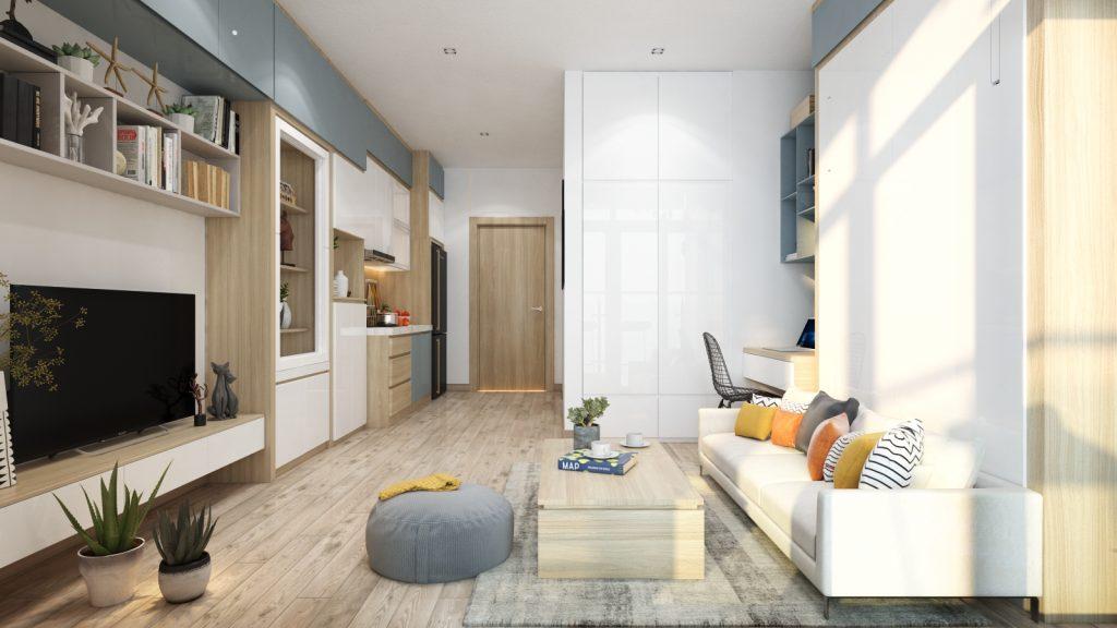 thiet-ke-noi-that-officetel-studio-green-bay-me-tri-2-1024x576 Điều gì làm nên ưu thế của thiết kế nội thất thông minh