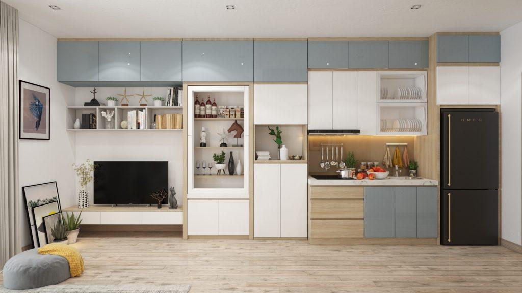 thiet-ke-noi-that-officetel-studio-green-bay-me-tri-4-1024x576 Điều gì làm nên ưu thế của thiết kế nội thất thông minh