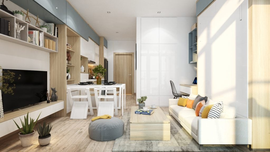 thiet-ke-noi-that-officetel-studio-green-bay-me-tri-6-1024x576 Điều gì làm nên ưu thế của thiết kế nội thất thông minh