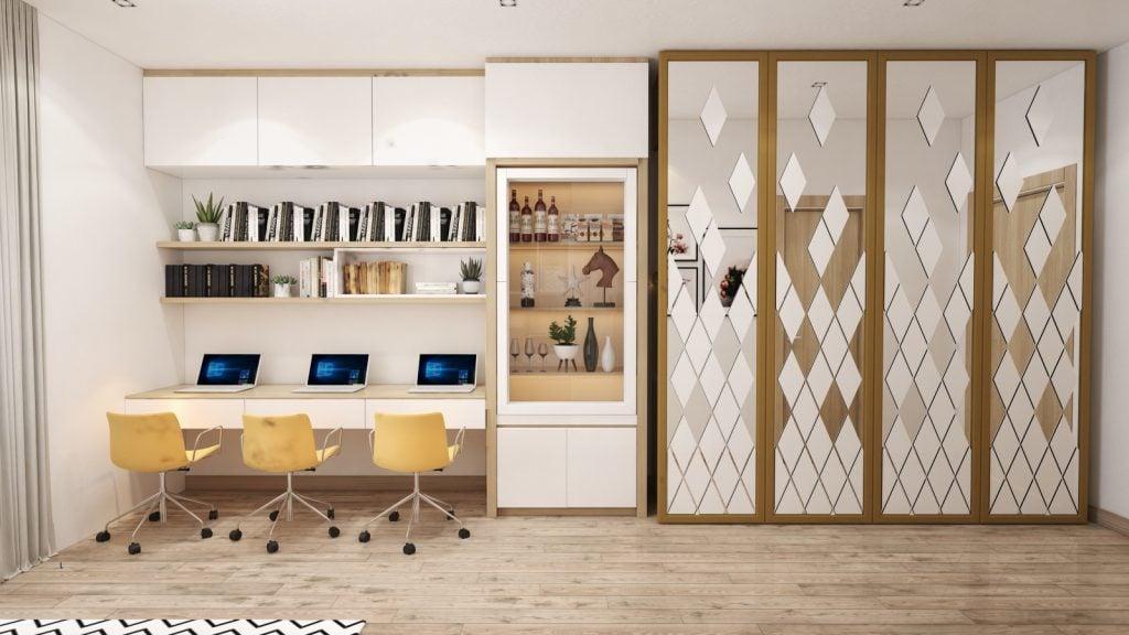 thiet-ke-noi-that-thong-minh-officetel-4-1024x576 Điều gì làm nên ưu thế của thiết kế nội thất thông minh