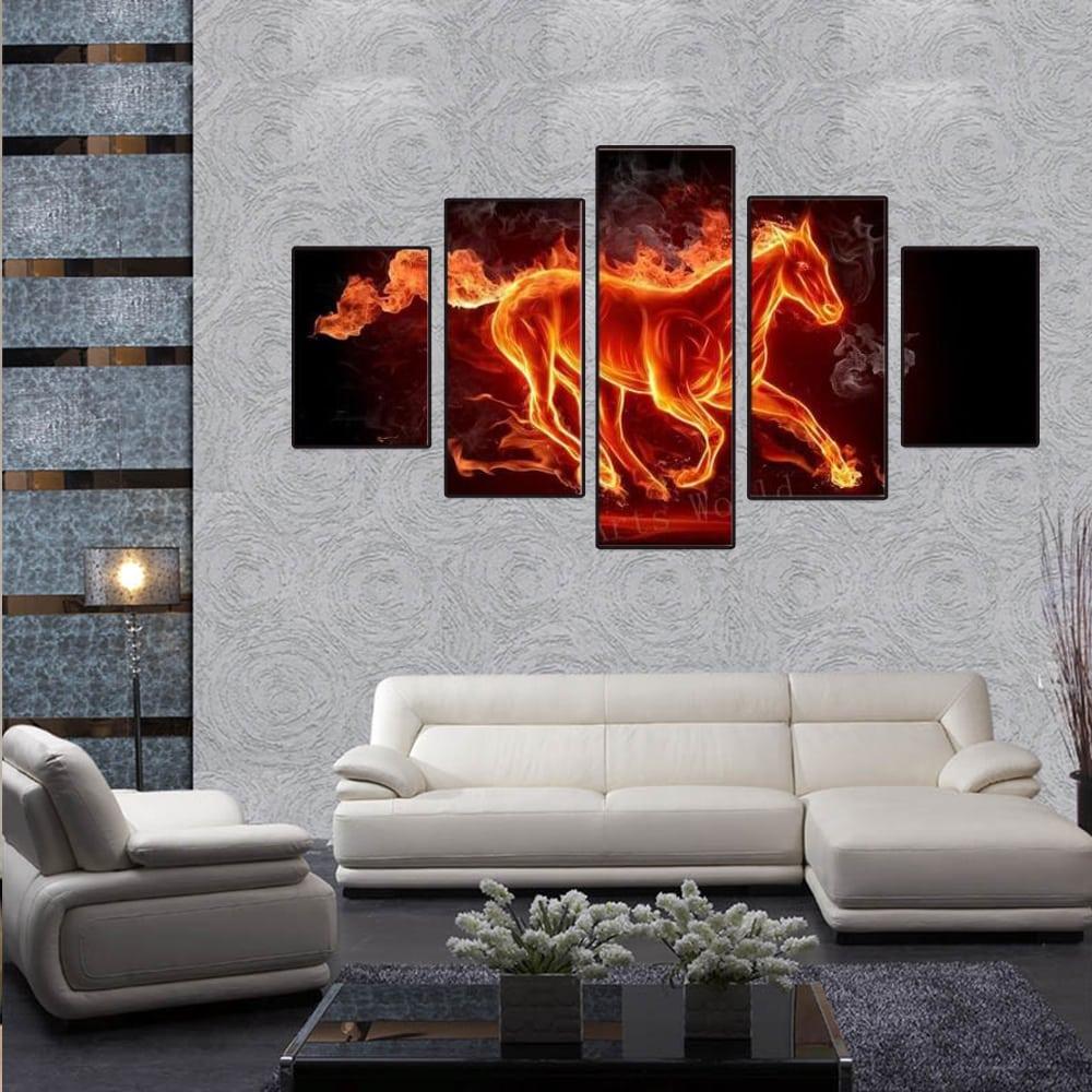 tranh-canvas-cp21-ruc-do-tuyen-lam Tranh treo tường phòng khách - điểm nhấn thẩm mỹ cho không gian
