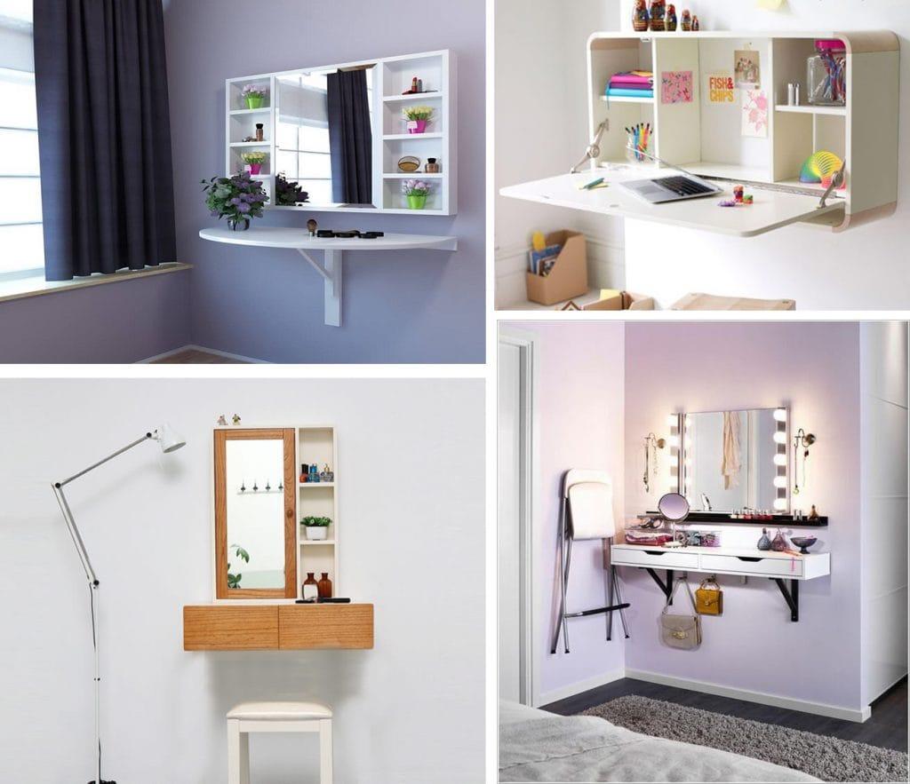 Ban-trang-diem-gan-tuong-2-1024x883 Bàn gắn tường thông minh - món đồ nội thất đa năng cho nhà nhỏ
