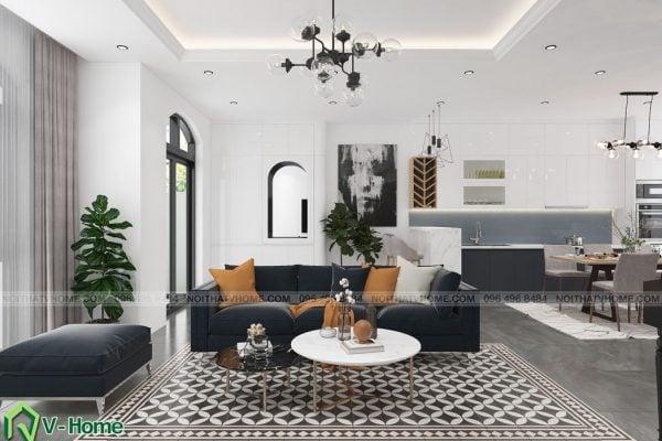 thiết kế nội thất biệt thự hiện đại Vinhomes Riverside the Harmony