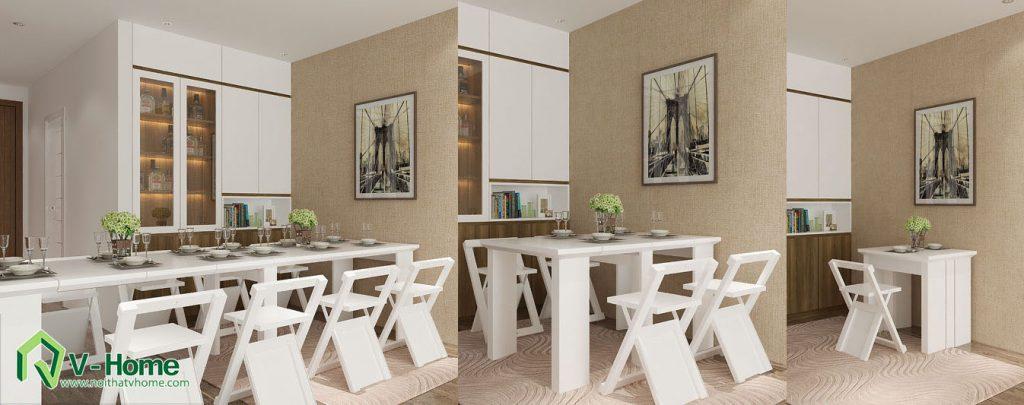 ban-an-thong-minh-keo-dai-v-home-4-1024x405 Bàn gắn tường thông minh - món đồ nội thất đa năng cho nhà nhỏ