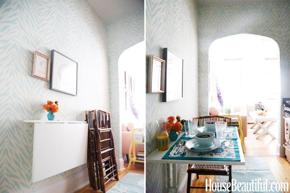 ban-gan-tuong-thong-minh-5 Bàn gắn tường thông minh - món đồ nội thất đa năng cho nhà nhỏ