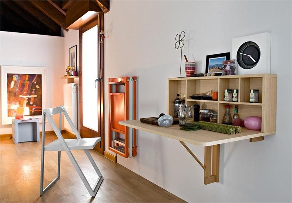 ban-gan-tuong-thong-minh-8 Bàn gắn tường thông minh - món đồ nội thất đa năng cho nhà nhỏ
