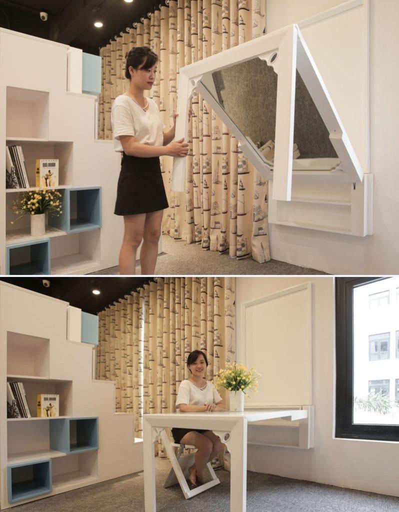 ban-guong-gan-tuong-thong-minh-798x1024 Bàn gắn tường thông minh - món đồ nội thất đa năng cho nhà nhỏ