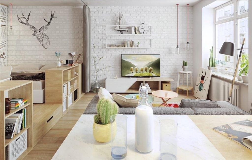 exposed-brick-nordic-influence-1024x652 Tổng hợp 25+ phong cách thiết kế nội thất đẹp - Đâu sẽ là sự lựa chọn của bạn