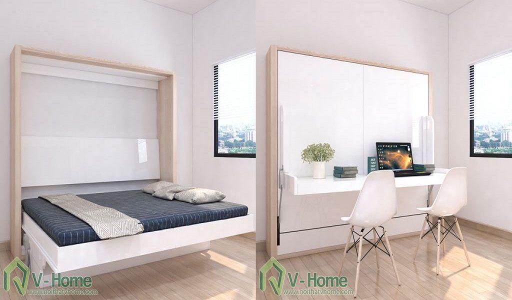 giuong-mo-ngang-ban-lam-viec-3-1024x499-1024x600 10 giải pháp biến đổi không gian thần kỳ cho căn hộ nhỏ nhờ nội thất đa năng