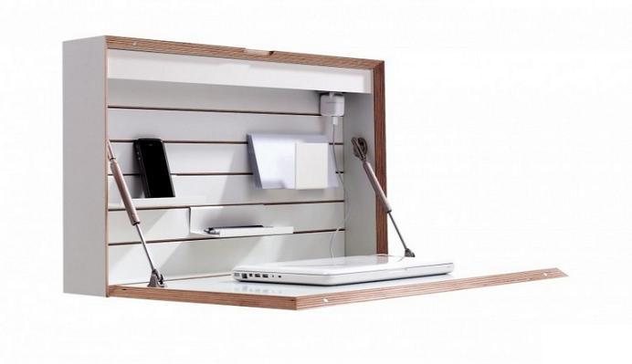 nhung-kieu-ban-gan-tuong-5 Bàn gắn tường thông minh - món đồ nội thất đa năng cho nhà nhỏ
