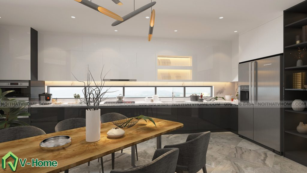 thiet-ke-noi-that-phong-bep-an-nha-lo-a-son-2-1024x580 Thiết kế nội thất nhà lô phố tại Đan Phượng - A. Sơn